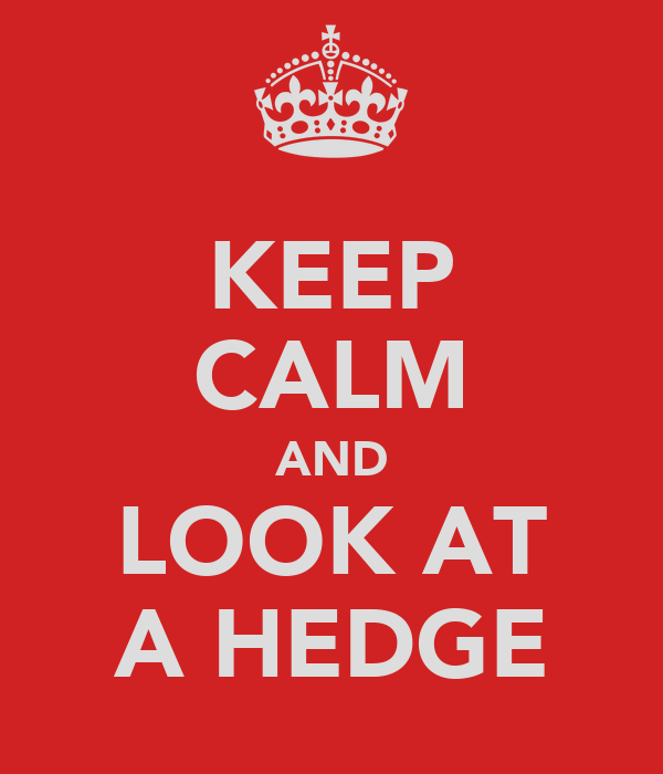 KEEP CALM AND LOOK AT A HEDGE