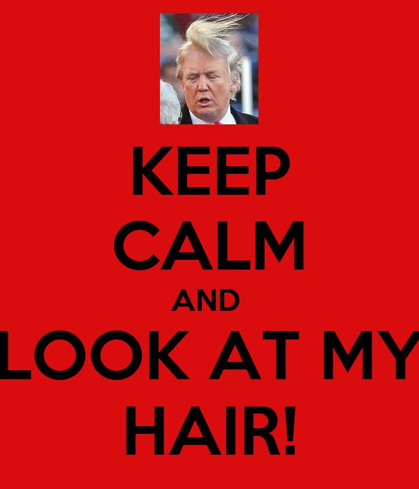 KEEP CALM AND  LOOK AT MY HAIR!