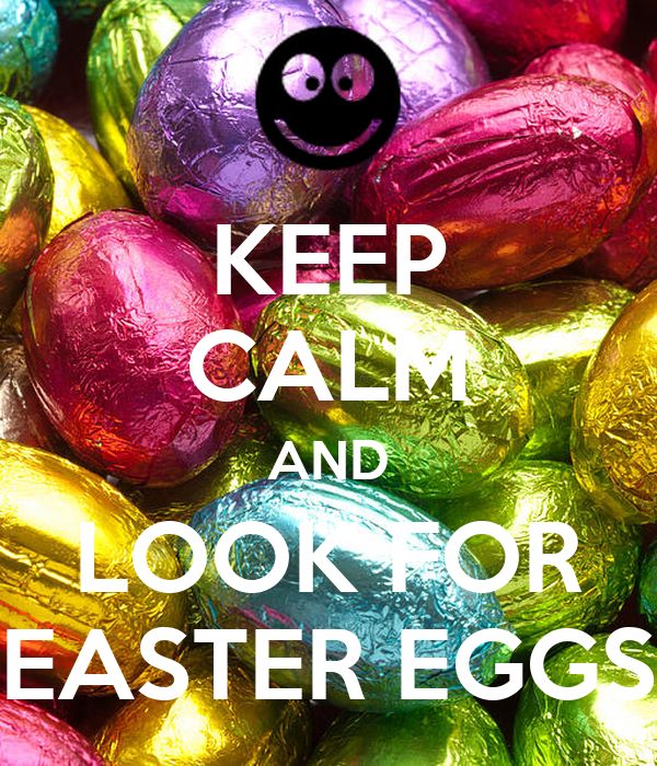 KEEP CALM AND LOOK FOR EASTER EGGS