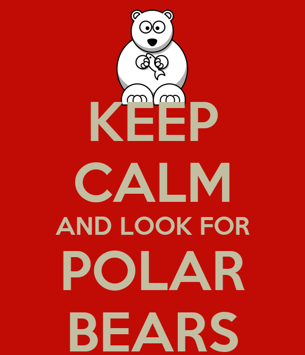 KEEP CALM AND LOOK FOR POLAR BEARS