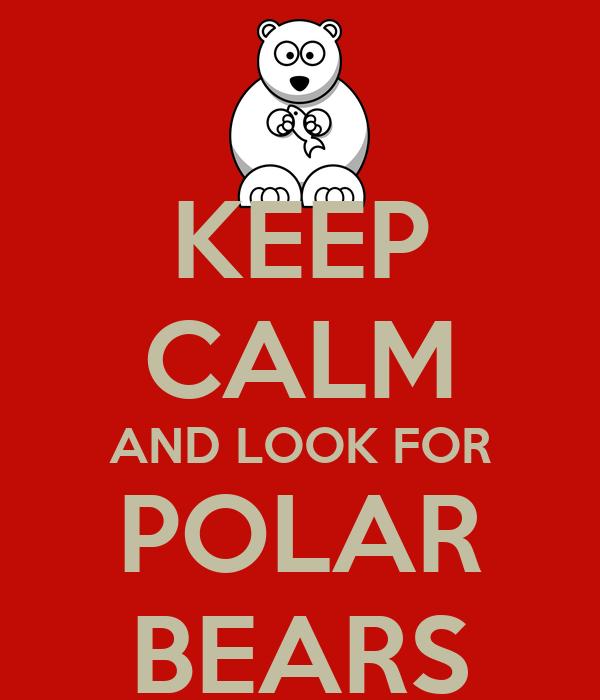 KEEP CALM AND LOOK FOR POLAR BEARS