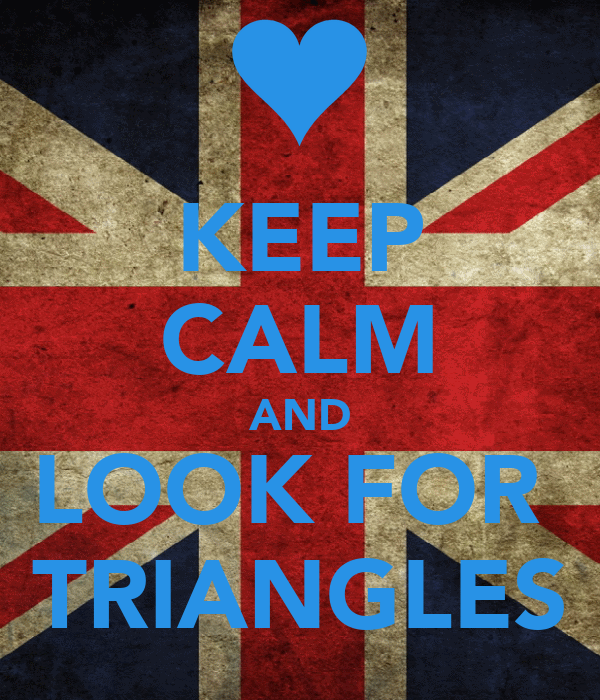KEEP CALM AND LOOK FOR  TRIANGLES