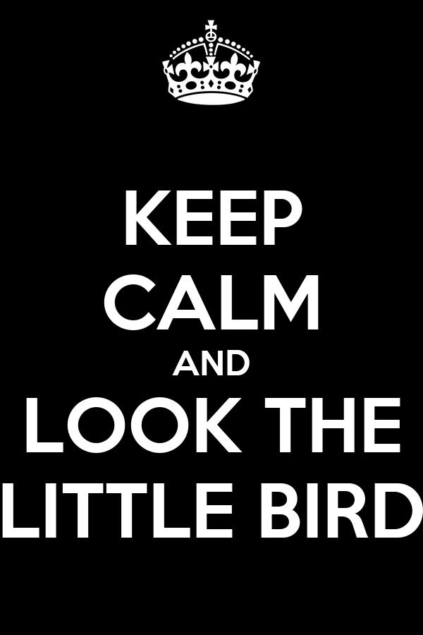 KEEP CALM AND LOOK THE LITTLE BIRD