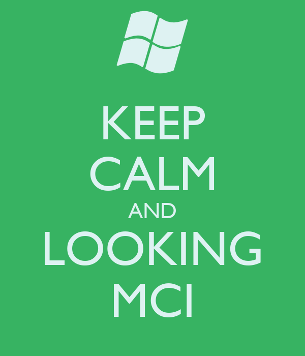 KEEP CALM AND LOOKING MCI
