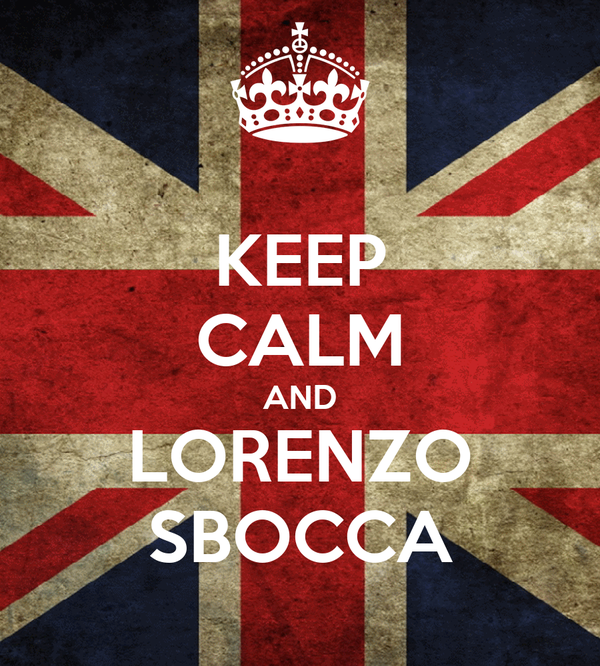 KEEP CALM AND LORENZO SBOCCA