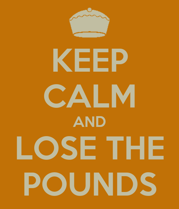 KEEP CALM AND LOSE THE POUNDS