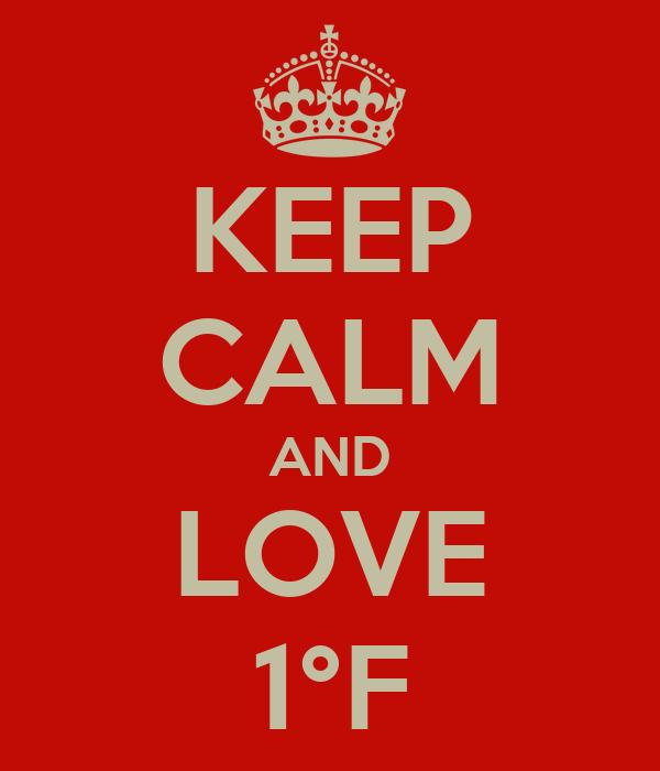 KEEP CALM AND LOVE 1°F