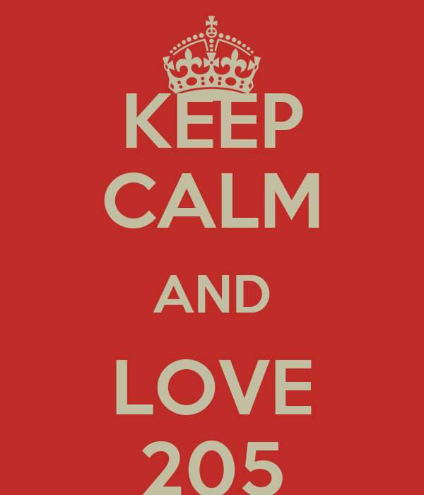 KEEP CALM AND LOVE 205