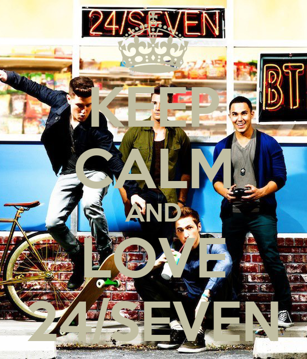 KEEP CALM AND LOVE 24/SEVEN