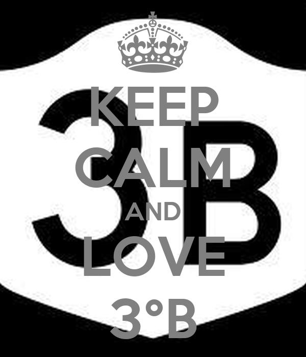 KEEP CALM AND LOVE 3°B