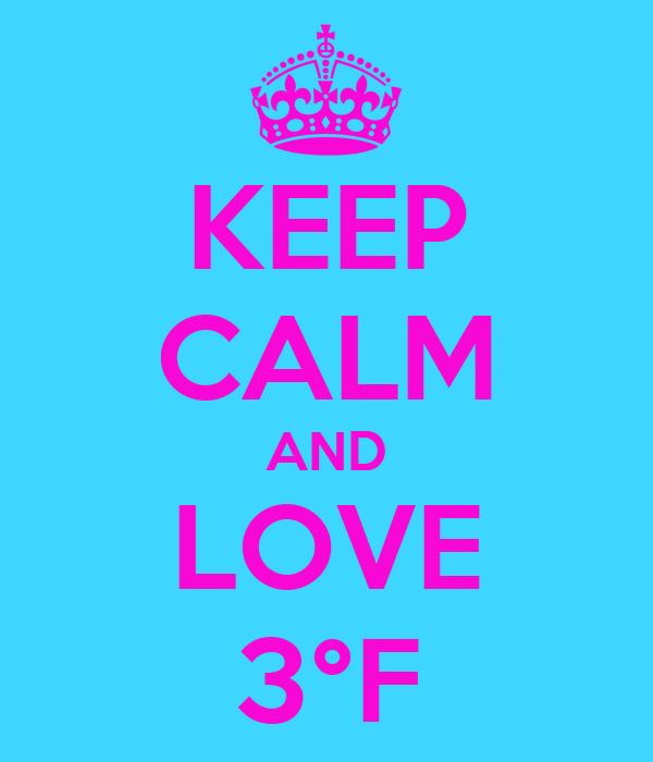 KEEP CALM AND LOVE 3°F