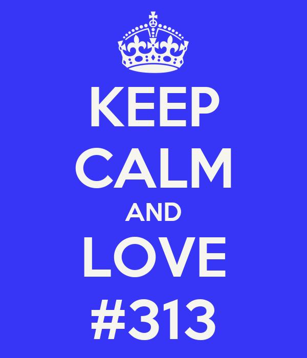 KEEP CALM AND LOVE #313