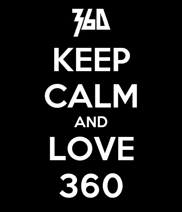 KEEP CALM AND LOVE 360