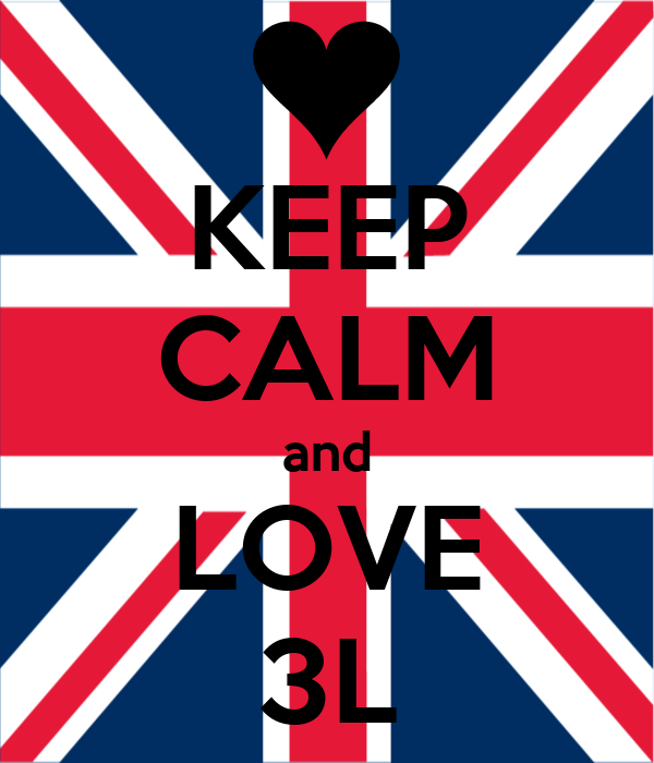 KEEP CALM and LOVE 3L