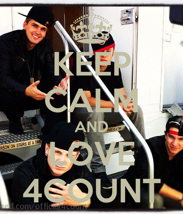 KEEP CALM AND LOVE 4COUNT