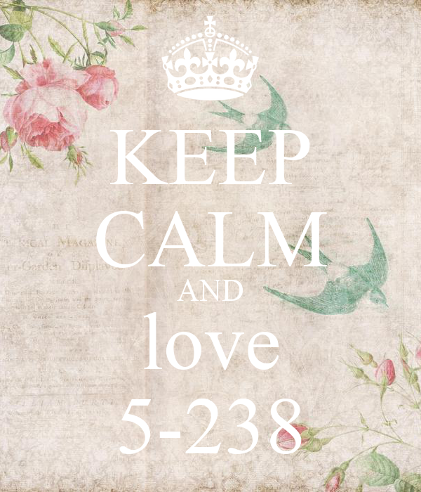 KEEP CALM AND love 5-238