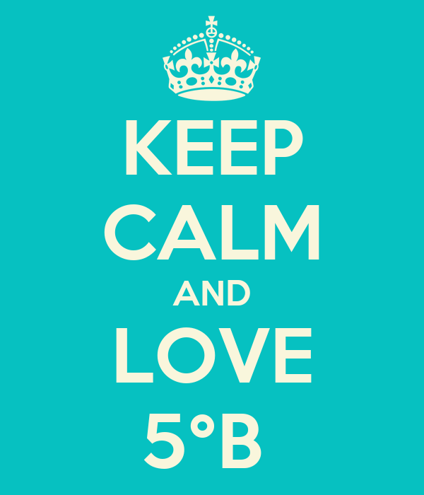 KEEP CALM AND LOVE 5°B