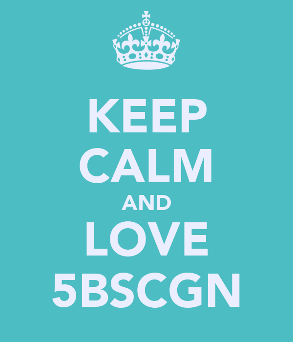 KEEP CALM AND LOVE 5BSCGN