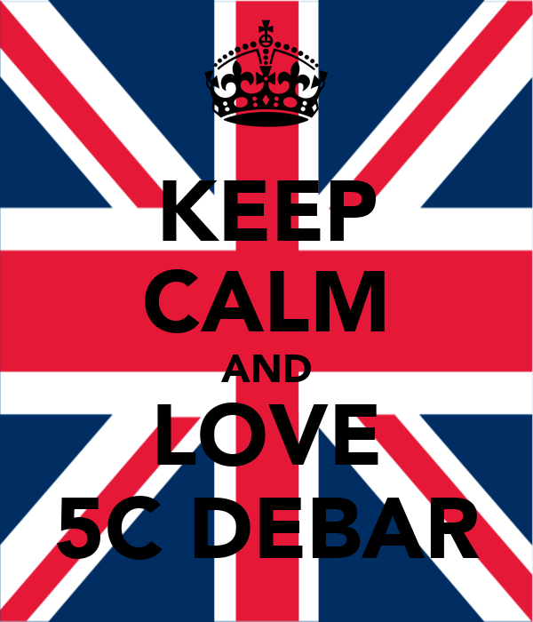 KEEP CALM AND LOVE 5C DEBAR
