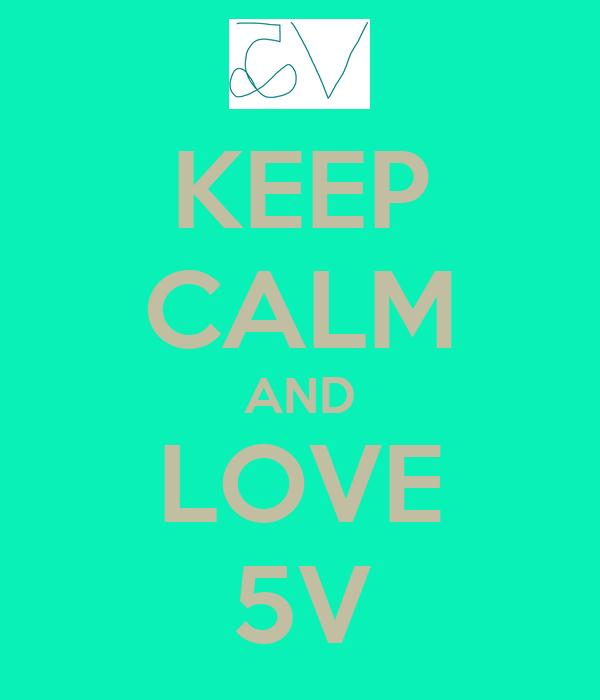 KEEP CALM AND LOVE 5V