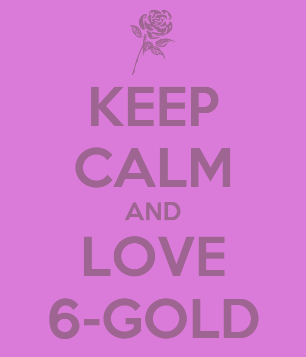 KEEP CALM AND LOVE 6-GOLD