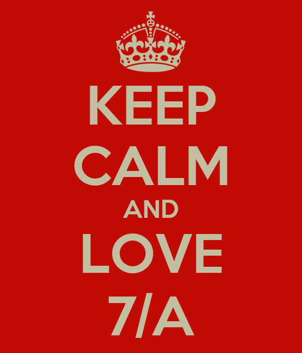 KEEP CALM AND LOVE 7/A