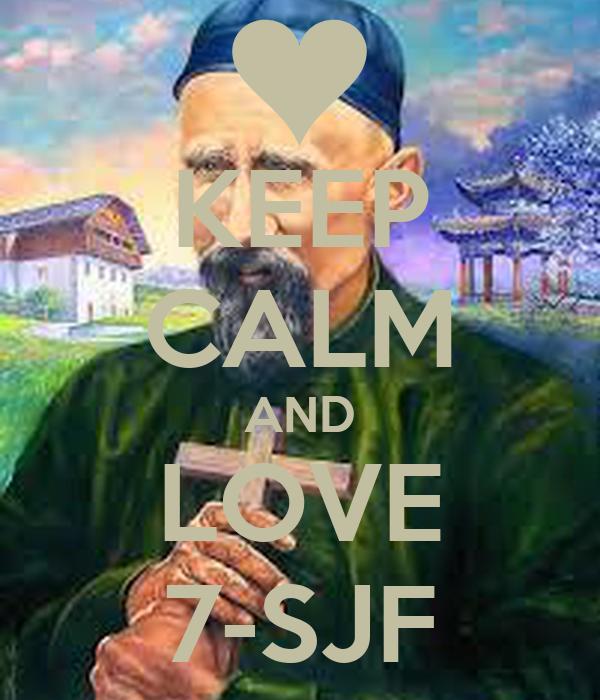 KEEP CALM AND LOVE 7-SJF
