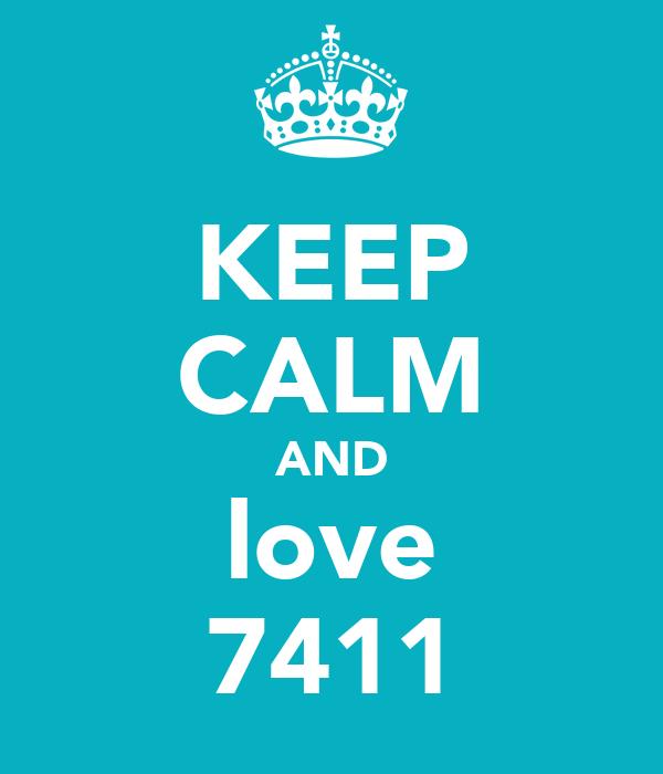 KEEP CALM AND love 7411