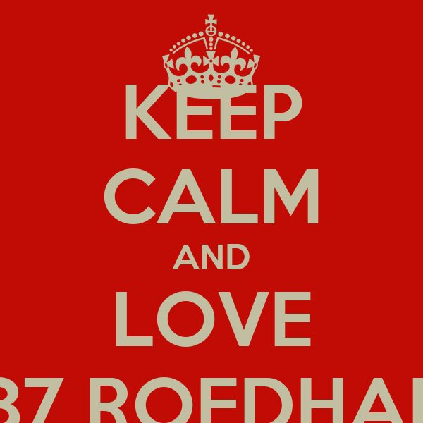 KEEP CALM AND LOVE 87 ROEDHAL