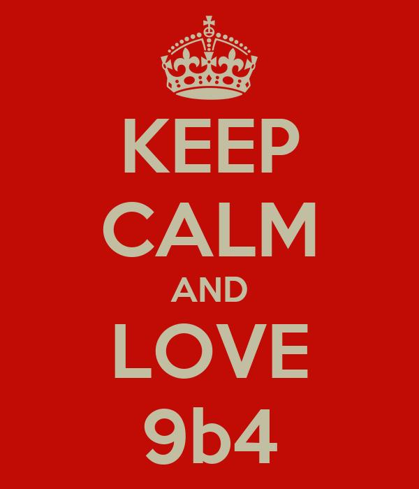 KEEP CALM AND LOVE 9b4