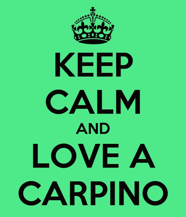 KEEP CALM AND LOVE A CARPINO
