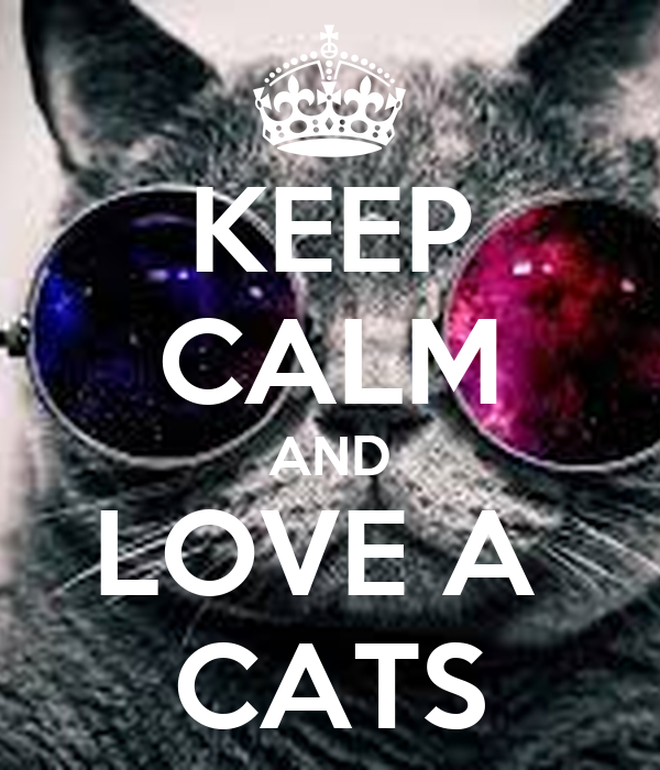 KEEP CALM AND LOVE A  CATS