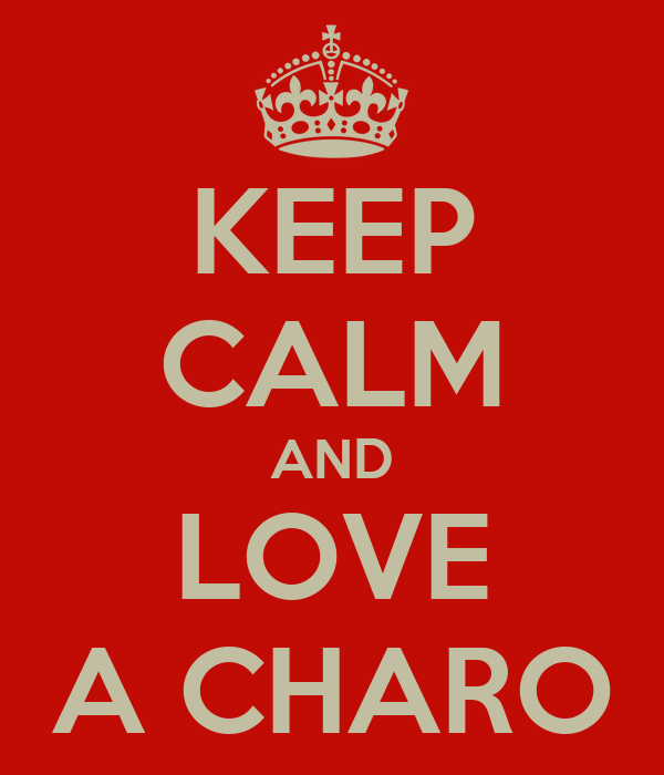 KEEP CALM AND LOVE A CHARO