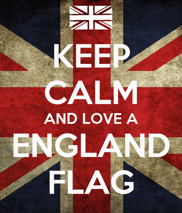 KEEP CALM AND LOVE A ENGLAND FLAG