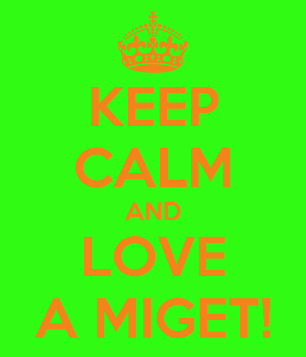 KEEP CALM AND LOVE A MIGET!