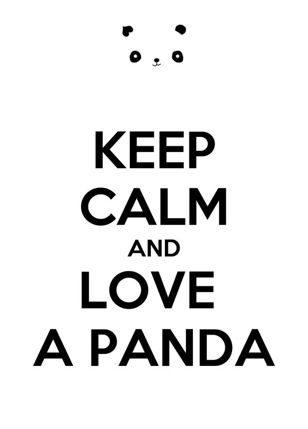 KEEP CALM AND LOVE  A PANDA