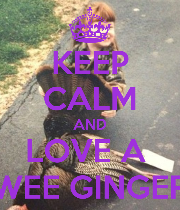 KEEP CALM AND LOVE A  WEE GINGER