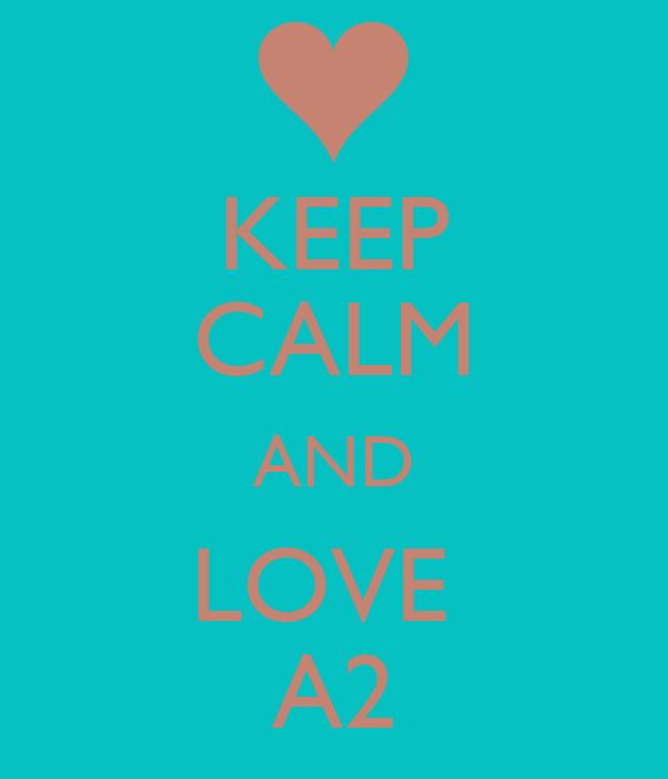 KEEP CALM AND LOVE  A2