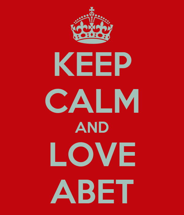 KEEP CALM AND LOVE ABET