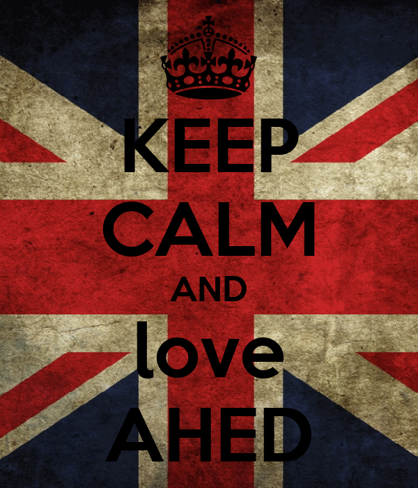 KEEP CALM AND love AHED