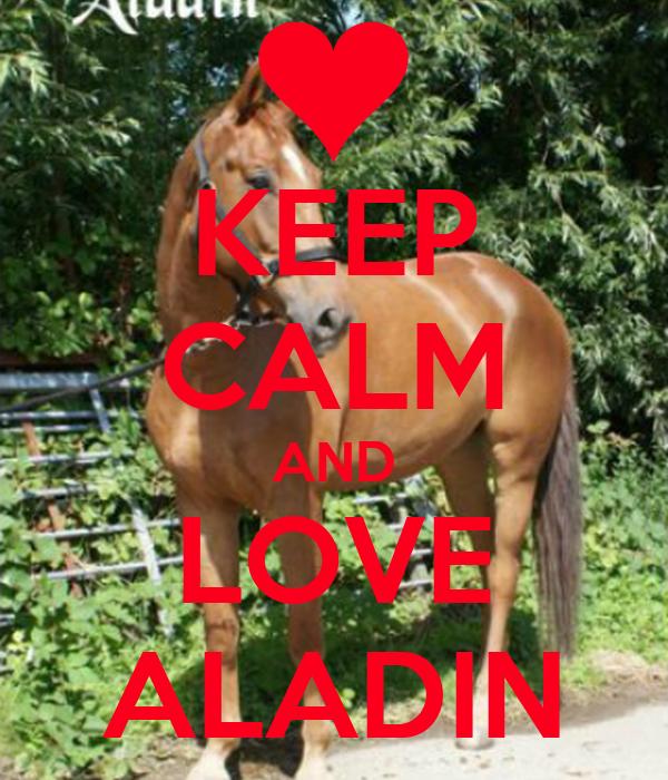 KEEP CALM AND LOVE ALADIN