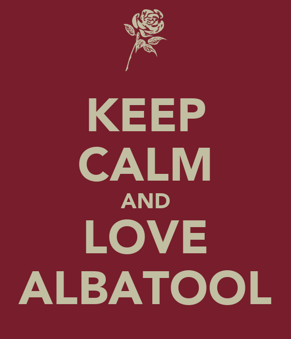 KEEP CALM AND LOVE ALBATOOL