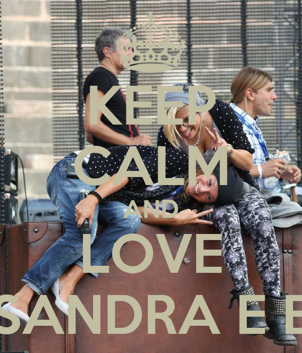 KEEP CALM AND LOVE ALESSANDRA E EMMA