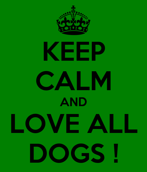 KEEP CALM AND LOVE ALL DOGS !
