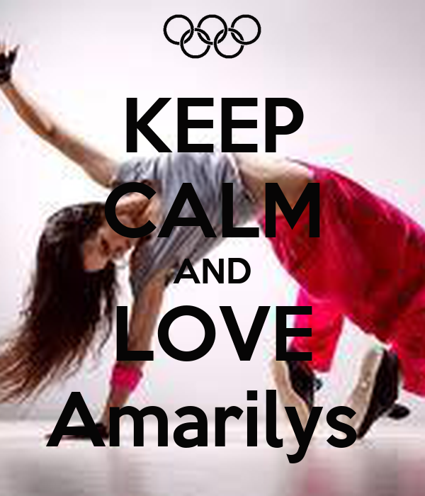 KEEP CALM AND LOVE Amarilys