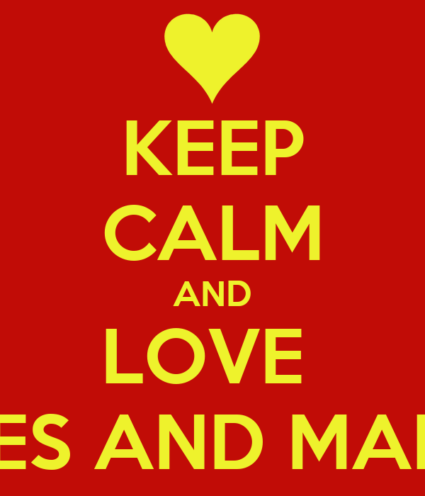 KEEP CALM AND LOVE  ANDRES AND MARTINA