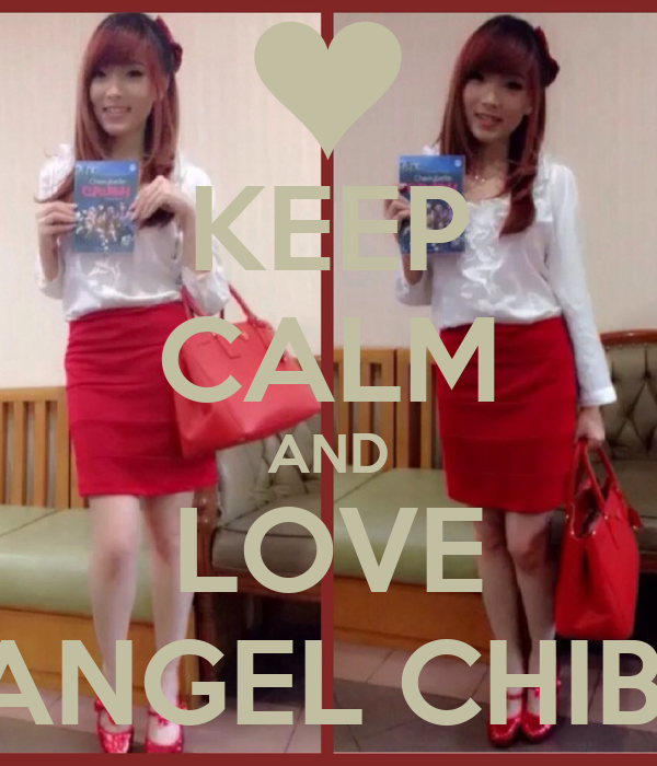 KEEP CALM AND LOVE ANGEL CHIBI