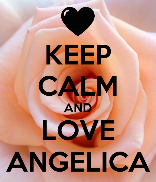 KEEP CALM AND LOVE ANGELICA Poster | Cris | Keep Calm-o-Matic