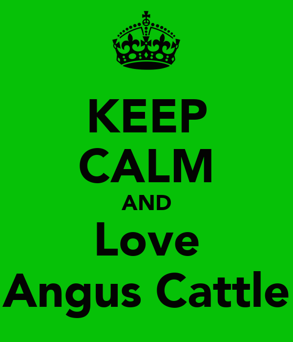 KEEP CALM AND Love Angus Cattle