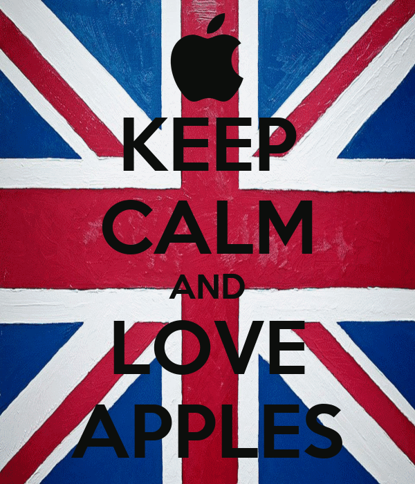 KEEP CALM AND LOVE APPLES